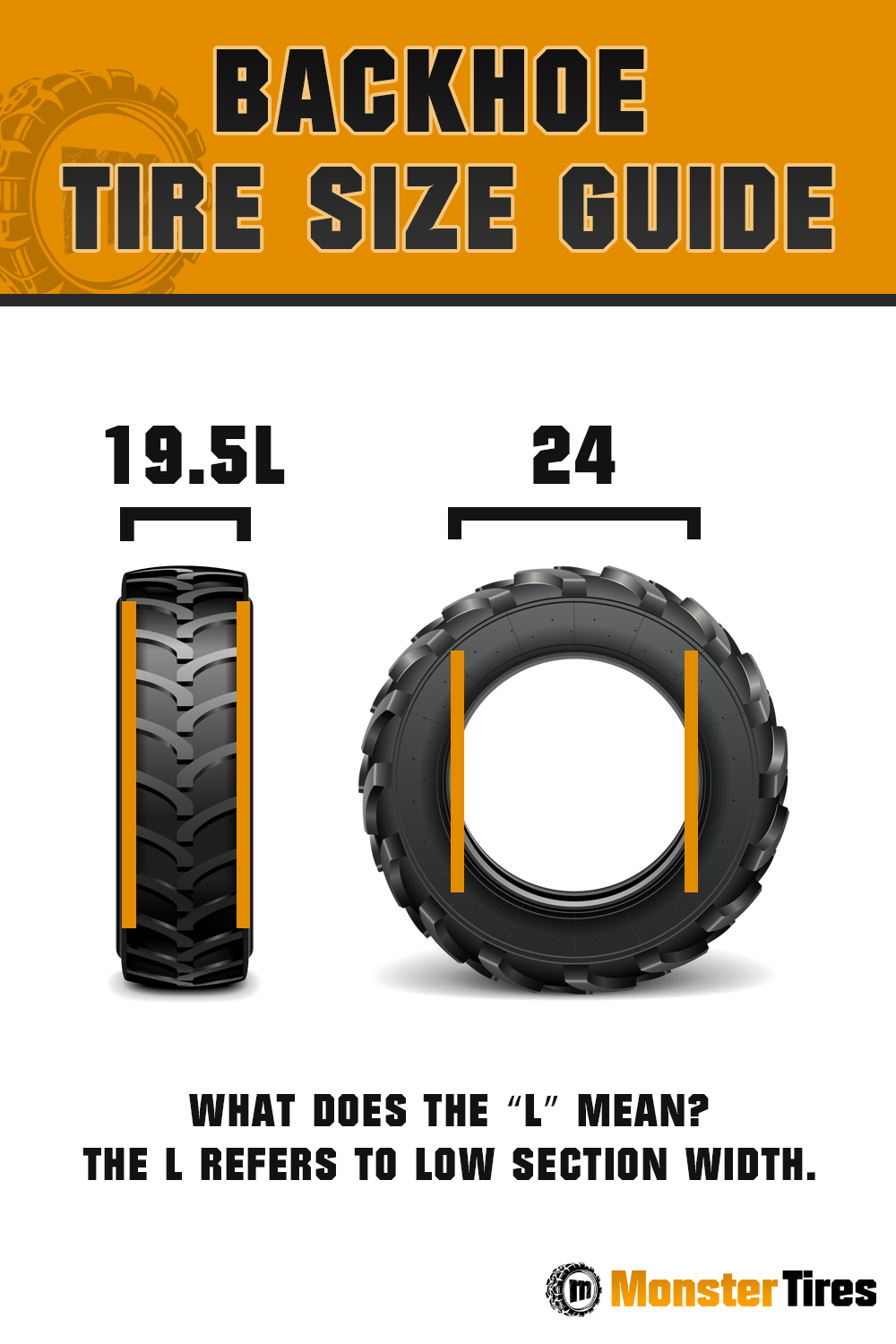 Backhoe Tire Size Guide - What does the L Stand For