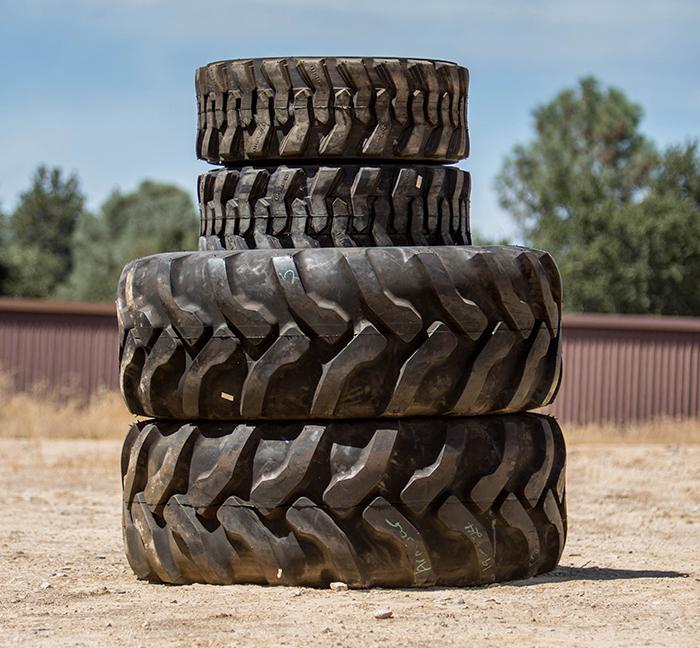 John Deere Backhoe Tires - Front and Rear Set