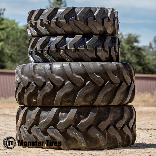 Volvo Backhoe Tires Front Rear Tire Set