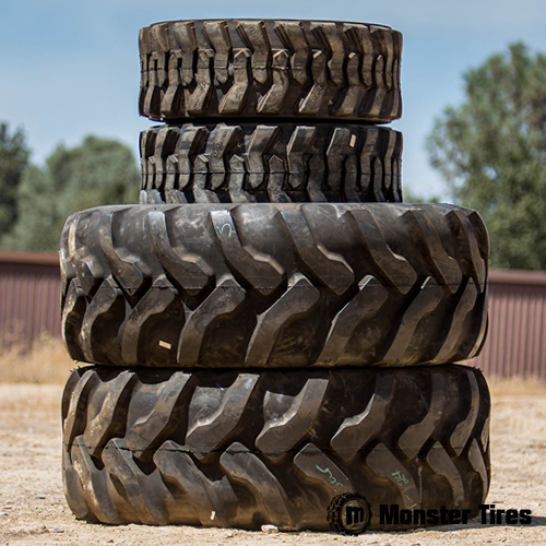 Full Set of Backhoe Tires