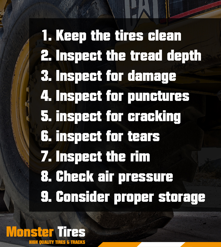 Preparing Industrial Tires Checklist