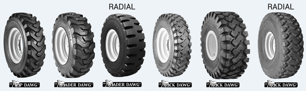 dawg pound wheel loader/ grader tires