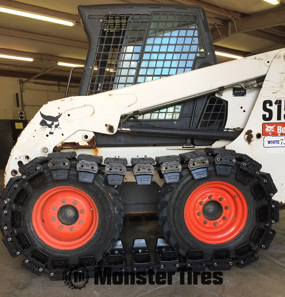 McLaren Skid Steer Over The Tire Tracks