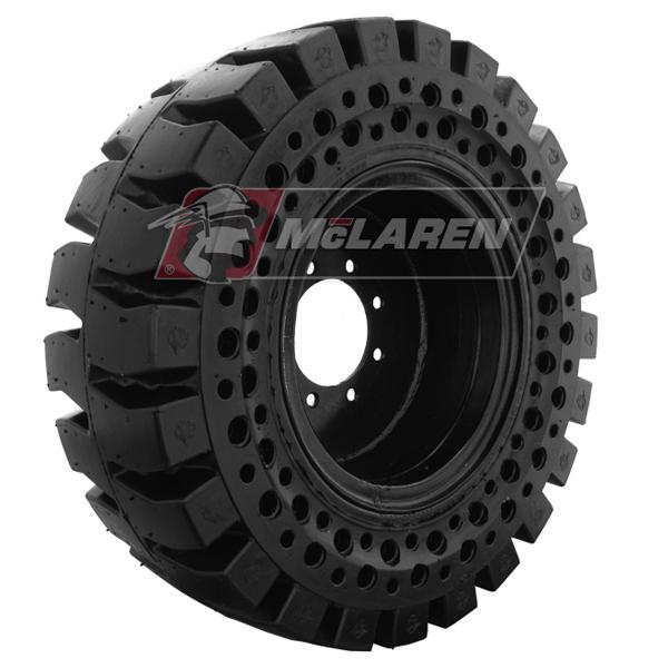 Nu Air Terrain Solid Telehandler Tires Mclaren Skid Steer Tire