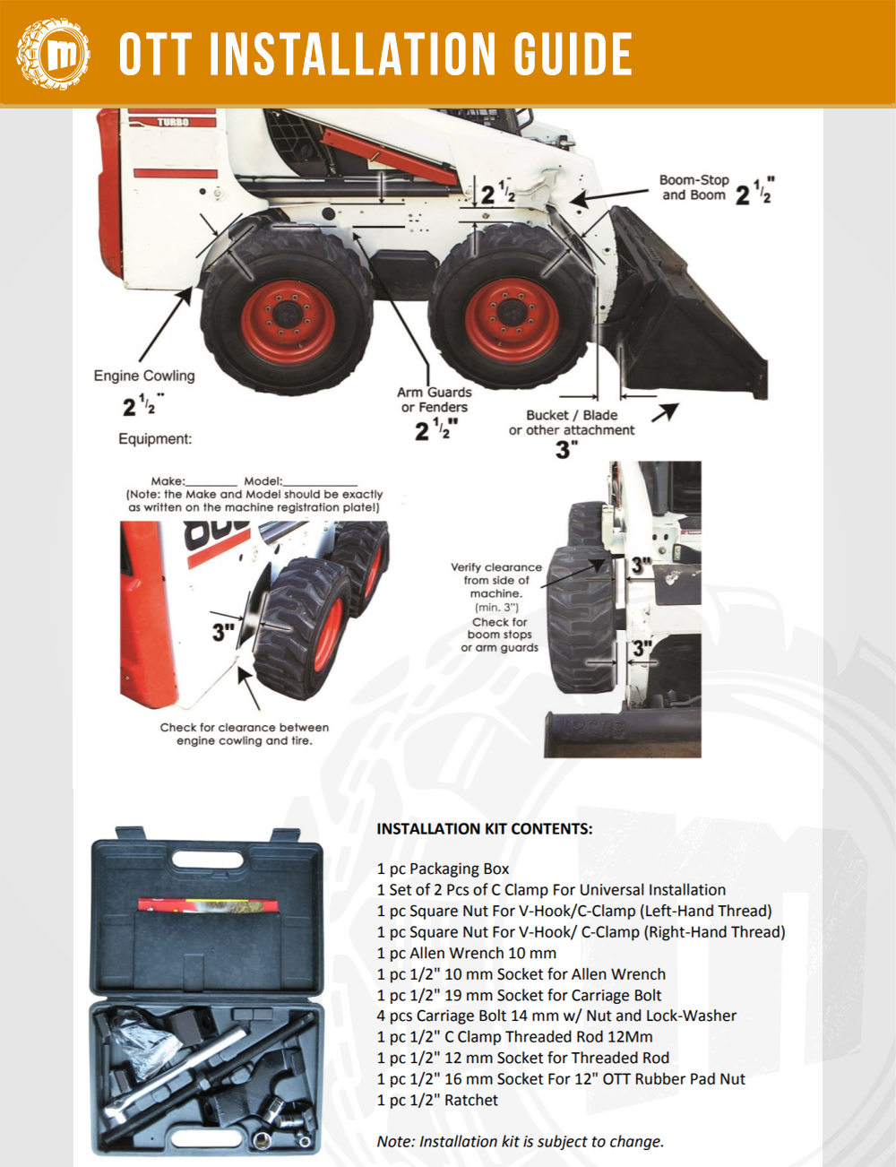 Skid Steer Over-The-Tire (OTT) Tracks Installation (Step by