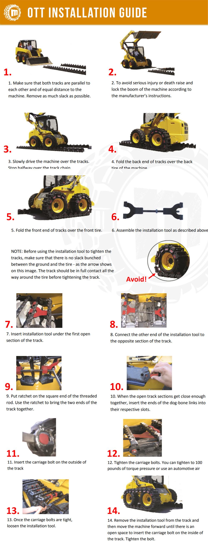 McLaren Tracks OTT Install - Size Guide
