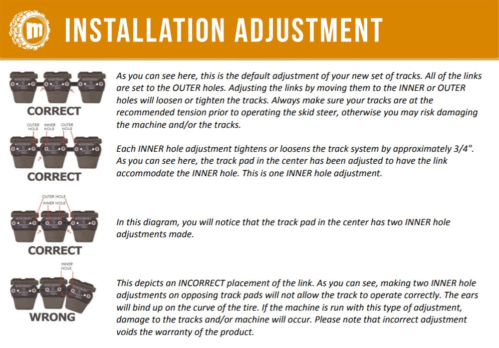 McLaren Tracks OTT Install - Adjustment Guide