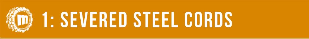 Skid Steer Tracks Damage - Severed Steel Cords