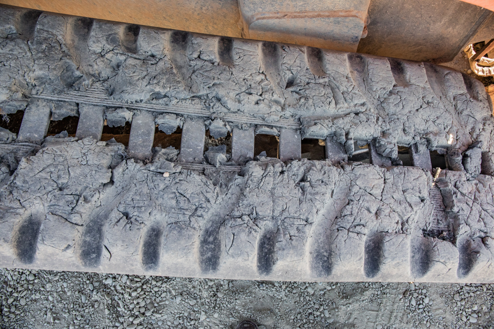 Damaged Compact Track Loader Tracks