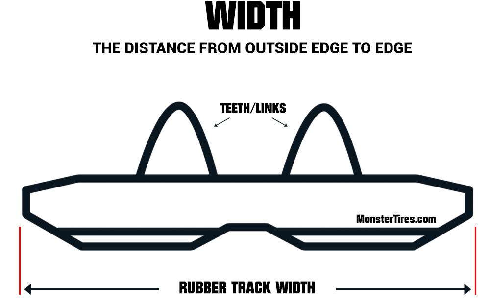 Mini Excavator Tracks - Rubber Track Width