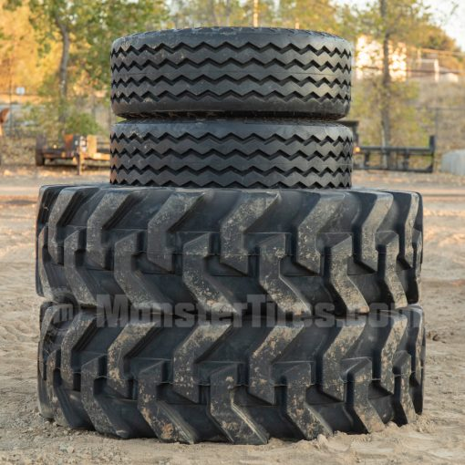 Backhoe Tires - 2WD R4 Tread and F3 Tread Pattern