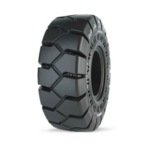 """MAXAM MS708 TR PRO Non-Aperture Solid OTR Tire + 1"""" ESD Wheel (26.5-25)"""