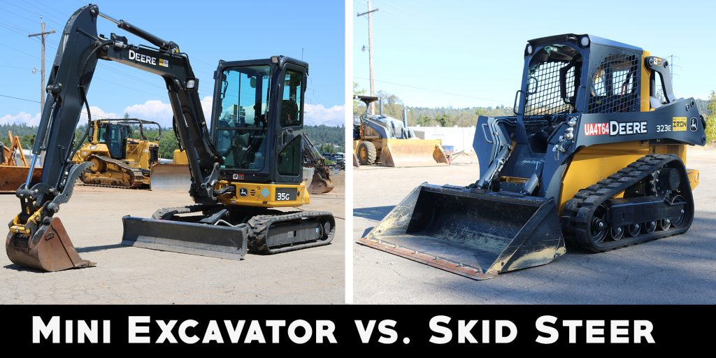 Mini Excavator vs. Skid Steer: What's the Difference?